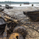 An oil spill in Bodo, the Niger Delta
