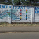A wall in Kibera is painted with the security map created by Map Kibera
